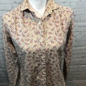 HATHAWAY Floral Button Down Shirt